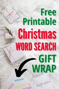 Christmas word search FREE print at home wrapping paper!! A fun