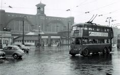A Trolley Bus at Kings Cross London England in the London Bus, Old London, East London, Vintage London, London Transport, Public Transport, London Architecture, Double Decker Bus, London History