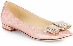 Kate Spade Niesha Glitter Bow Ballet Flats on shopstyle.com