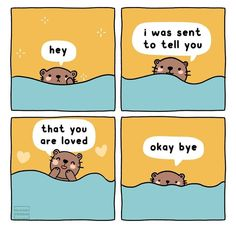 Cute Comics, Funny Comics, Are You Happy, Make Me Happy, Okay Bye, Feeling Unloved, Cute Kawaii Animals, Positive Memes, Horoscope Reading
