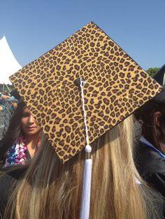 Leopard graduation cap