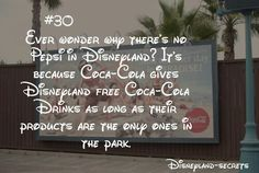 Disneyland secrets. & bc coca cola is better ♥
