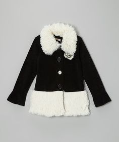 Look what I found on #zulily! Black Coco Shaggy Coat - Infant, Toddler &…
