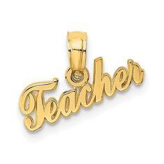14k TEACHER Charm / STYLE: D4177