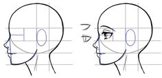 how to draw a head side profile | How to Draw the Side of a Face in Manga Style