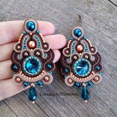 Soutache Necklace, Tassel Earrings, Ring Earrings, Boho Jewelry, Jewelery, Paula Ordovás, Earrings Handmade, Handmade Jewelry, Beaded Embroidery