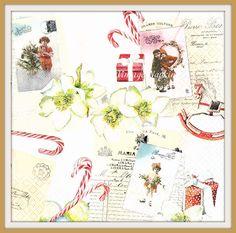 SALE *** TWO Paper napkins for DECOUPAGE-Christmas Vintage Flower Kids C054 by VintageNapkins on Etsy