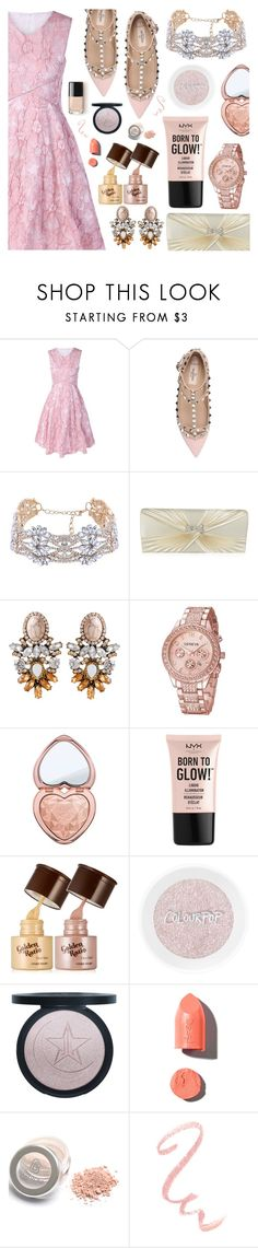 """""""Rosegal"""" by dora04 ❤ liked on Polyvore featuring Valentino, Too Faced Cosmetics, NYX and PUR"""