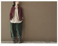 Green Loose Leisure Cotton Pants 2 colours. $64.50, via Etsy.