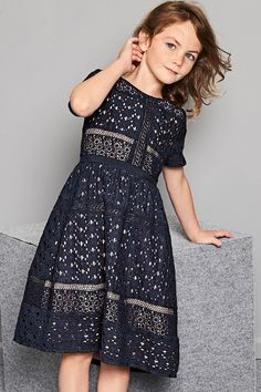 Buy Navy Lace Dress online today at Next: United States of America Kids Prom Dresses, Kids Wardrobe, Navy Lace, Baby Dress, Kids Outfits, Cold Shoulder Dress, Short Sleeve Dresses, Dope Clothes, Young Fashion