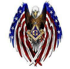 One nation under God, Indivisible, with Liberty & Justice for All. Welcome - The NWO has now begun. Masonic Art, Masonic Lodge, Masonic Symbols, Freemason Tattoo, Masonic Tattoos, Knights Hospitaller, Knights Templar, Eagle Wallpaper, Eagle Art