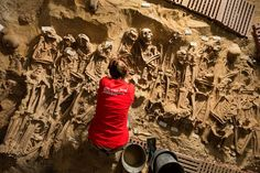 Several mass burials, including a room where 150 bodies were buried in a mass grave, were recently u... - Denis Gliksman, Inrap
