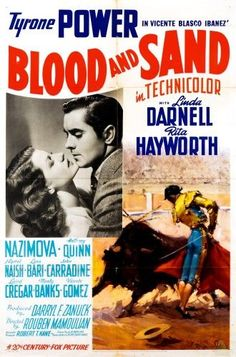 Blood And Sand (Brown) From Left Rita Hayworth Tyrone Power 1941 Tm And Copyright ?20Th Century Fox Film Corp. All Rights Reserved/Courtesy Everett Collection Movie Poster Masterprint (24 x 36)