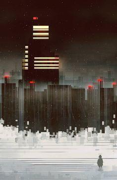 Geometric Cityscapes And Landscapes By Illustrator Scott Uminga