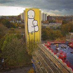 #BigMother: l'arte di Stik in aiuto delle mamme single Ph. @aleromitoo (da web)