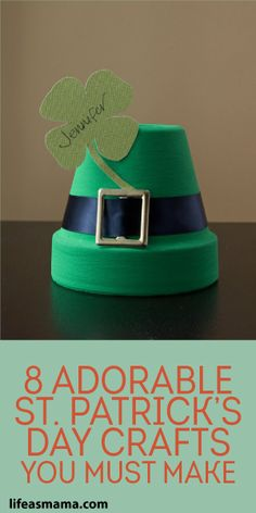 Patrick's Day Crafts You Must Make - 8 Adorable St. Patrick's Day Crafts You Must Make – Page 8 of 8 8 Adorable St. Patrick's Day - March Crafts, St Patrick's Day Crafts, Holiday Crafts, Holiday Fun, Fun Crafts, Simple Crafts, Favorite Holiday, Desserts Valentinstag, Saint Patrick's Day
