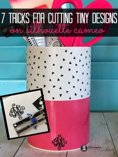 How to cut vinyl without tearing on Silhouette CAMEO 7 tricks to cutting tiny things.