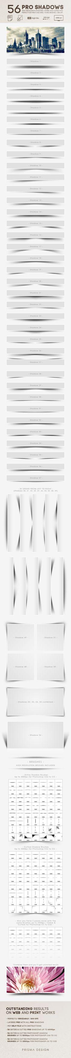 56 Pro Shadows for Photoshop #design Download: http://graphicriver.net/item/56-pro-shadows/7712788?ref=ksioks