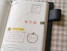 spiral notebook stamp  手帳スタンプ* 鳥の葉工房