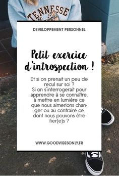 Petit exercice d'introspection Coaching, Energie Positive, Anti Stress, Good Vibes Only, Positive Attitude, Motivation, Art Therapy, Good Mood, Things To Know