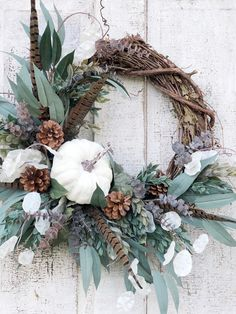 Excited to share this item from my shop: White Pumpkin Wreath, Fall Wreath for Front Door, Fall Decor, White Pumpkin Decor, White Pumpkins Easy Fall Wreaths, Autumn Wreaths For Front Door, Diy Fall Wreath, Fall Diy, White Pumpkin Decor, White Pumpkins, Fall Pumpkins, Autumn Decorating, Pumpkin Decorating