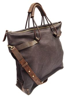 Black Canvas Hobo Bag