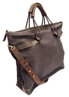 Black Canvas Hobo Bag