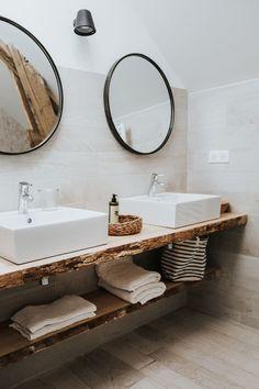 Black Périgord guest house Bel Estiu: a transformed barn - House side Scandinavian Toilets, Modern Scandinavian Interior, French Interior, Elegant Home Decor, Elegant Homes, Rustic Bathroom Designs, Bad Inspiration, Inspiration Boards, Feature Tiles