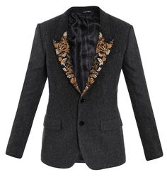 dolce & gabbana jackets CHARCOAL discovered on Fantasy Shopper Versace Coat, Balenciaga Jacket, Tom Ford Jacket, Men's Jacket, Vetements Hoodie, Gucci Hoodie, Saint Laurent Shirt, Sacks, Style