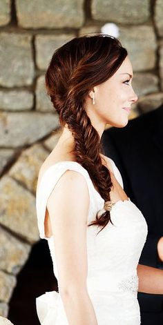 this is me. this is my hair at my wedding. :)  #wedding #hair #braid #fishtail