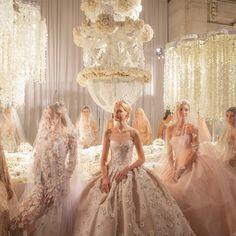 """FashionweekNYC: """"Bridal Fashion Week is here 😍👰💍… """" Reem Acra Wedding Dress, Reem Acra Bridal, Luxury Wedding Dress, Glamorous Wedding, Bridal Wedding Dresses, Dream Wedding Dresses, Bridal Style, Lela Rose, Elie Saab"""