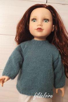 """tuto gilet pour poupée 45cm (18"""")"""