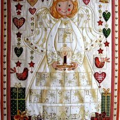 Advent Calendar Angel Wall Hanging Heirloom Childrens Activit.