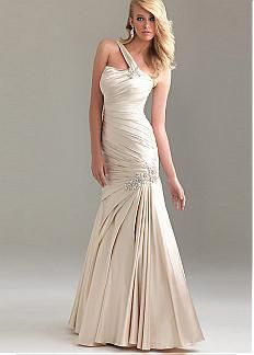 Glamorous Stretch Satin Princess One Shoulder Long Prom Dress / Gown. Get superb discounts up to 60% Off at Dressilyme with Coupon and Promo Codes.