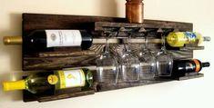 7 Eye-Opening Cool Tips: Shelf Lighting Ikea modern shelf toilets. Unique Wine Racks, Rustic Wine Racks, Rustic Wall Shelves, Wine Shelves, Pallet Shelves, Wine Rack Wall, Wine Glass Rack, Pallet Wine, Diy Pallet