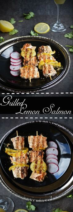 Salmon grilled lemon-Easy recipe with just peppercorns under 30 minutes, paleo, healthy seafood perfect for party, for crowd and for whole family with step by step pictures and instruction.