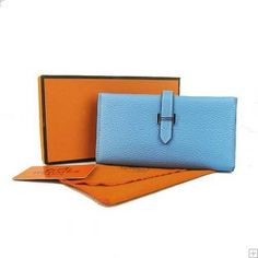 Hermes Bearn leather long purse replica$145