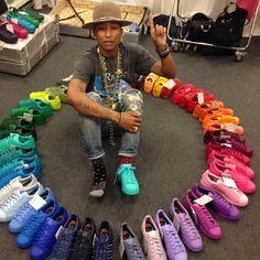adidas superstar pharrell groen