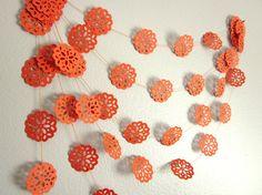 California Orange Garland Autumn Garland Paper by ArtsDelight