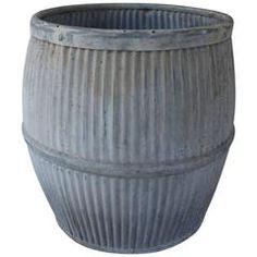Vintage Galvanized Zinc English Dolly Tub