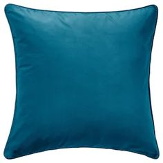 IKEA - SANELA, Cushion cover, dark turquoise, Cotton velvet gives depth to the color and is soft to the touch. The zipper makes the cover easy to remove. Sofa Pillow Covers, Euro Pillow Shams, Couch Pillows, Velvet Cushions, Cushions Ikea, Modern Cushions, Blue Cushions, Reading In Bed, Cotton Velvet
