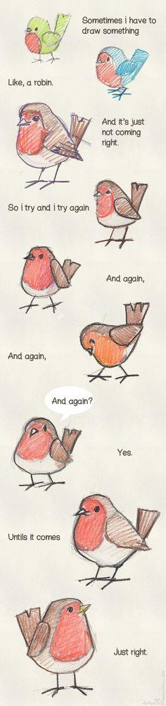 vogelkes tekenen