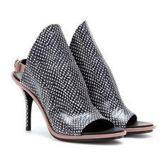 Balenciaga glove leather mule slides. AMAZING PRINT.