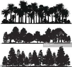 Vector Art : Forest silhouettes