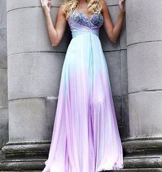 Pretty purple and blue dress