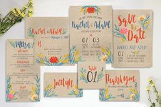 Summer Floral Wedding Suite by KlapauciusCo on @creativemarket
