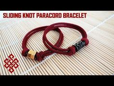 Sliding Knot Paracord Bracelet with Hex Nut/Bead Tutorial - YouTube
