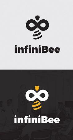 InfiniBee Logo #logotemplate #logodesign #branding #visualidentity #concept #logos #customdesign #designers