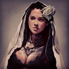 Una de las cosas más difíciles son las texturas, y allá donde alcanzan las sombras, el trabajo de la tinta sobre la piel llega a ser en algunos casos lo más complicado de representar. #wip #virgin #vintage #rose #ink #inked #inkedgirl #skull #sullen #death #love #lip #tattoed #tattoo #tenerife #california #catrina #eternal #pretty #black #beauty #cute#blue#draw #dayofthedead#davidgarciatattoo