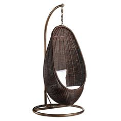 Rattan Hanging Chair with Stand from Mobile Concepts for $398 on Square Market